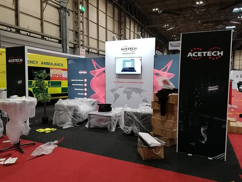 ACETECH Stand during set up