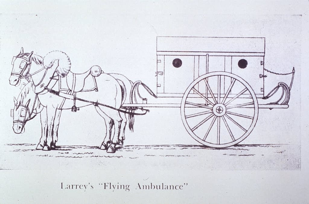 The flying ambulance designed by Dominique Jean Larrey